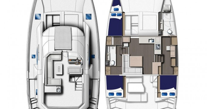 Rental Motorboat in Road Town - Leopard Moorings 433 PC