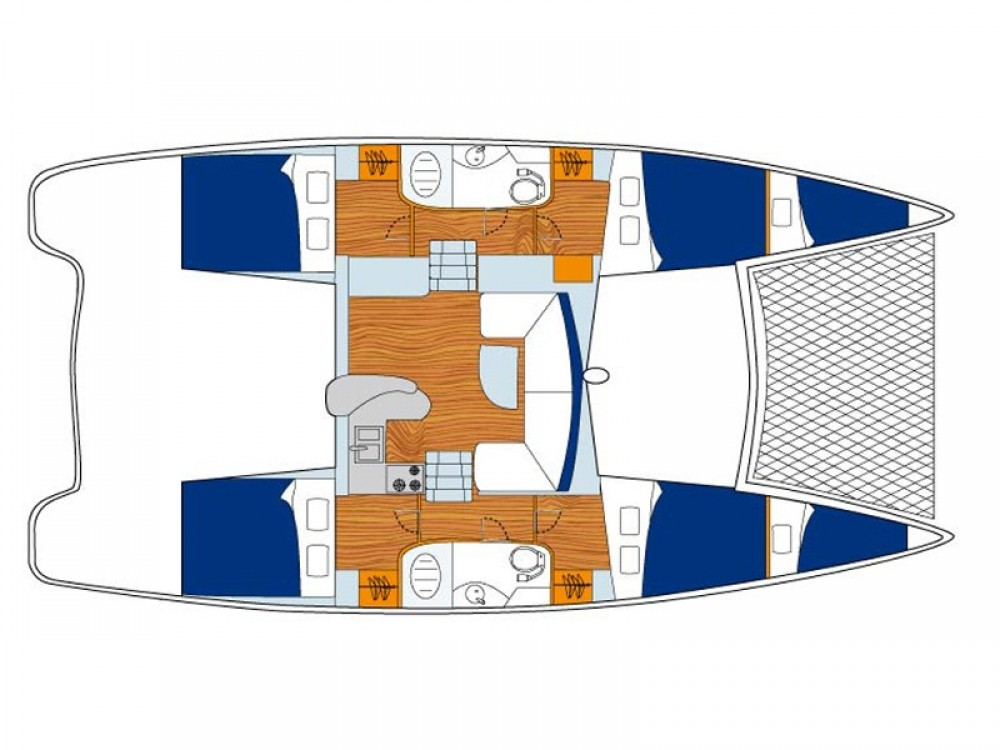 Boat rental Leopard Sunsail 404 in Victoria on Samboat