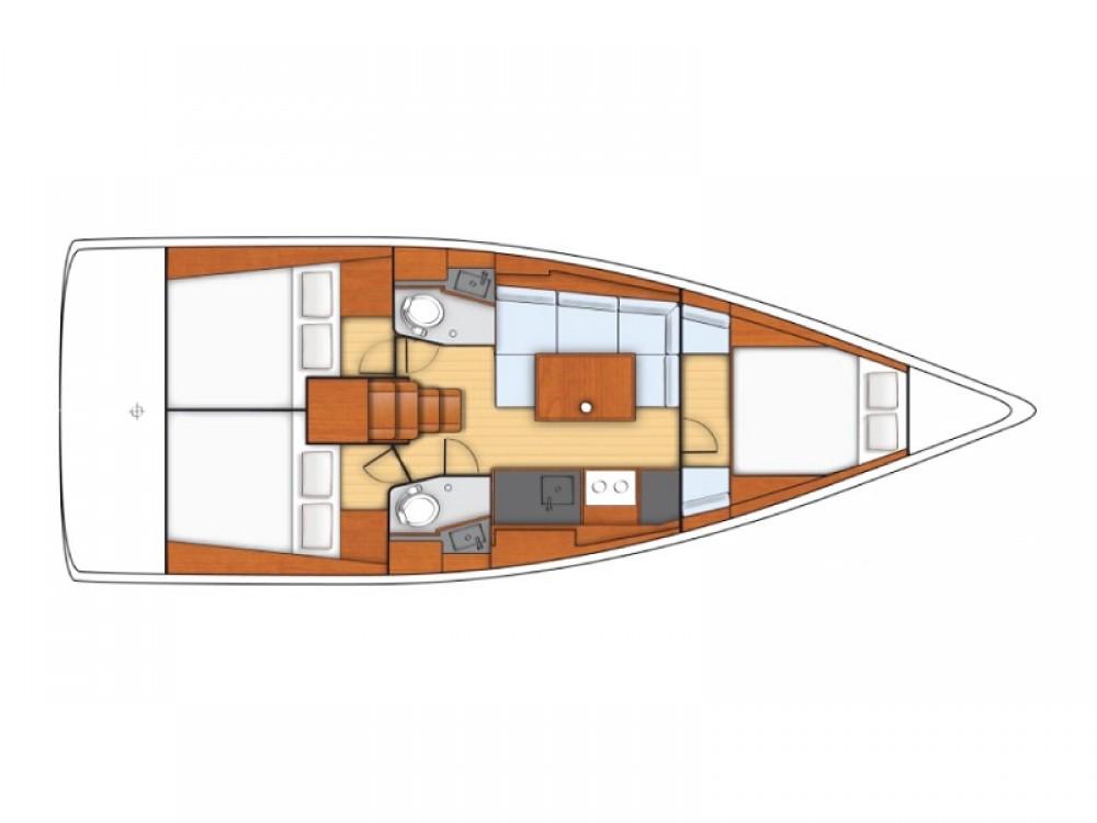 Boat rental Cannigione cheap Sunsail 38