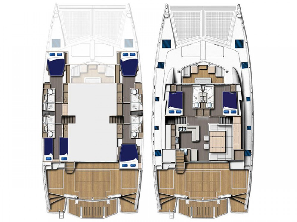 Rental Catamaran in Road Town - Leopard Moorings 5800
