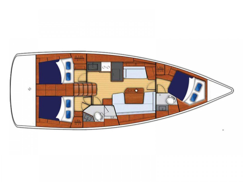 Rental Sailboat in Marina - Bénéteau Moorings 42.1
