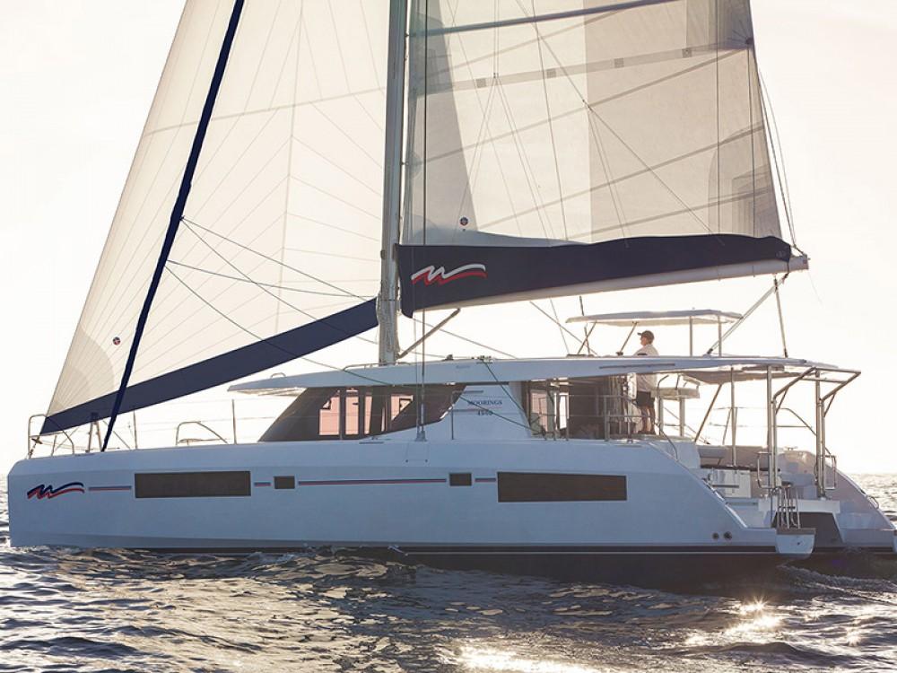 Rental Catamaran in Marina - Leopard Moorings 4500