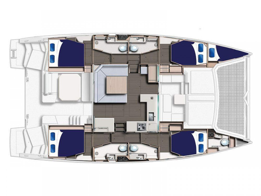 Hire Catamaran with or without skipper Leopard Marina