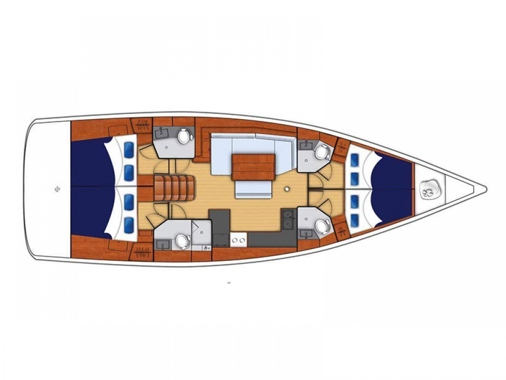 Hire Sailboat with or without skipper Bénéteau Marigot