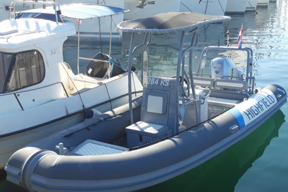 Rental RIB Highfield Boats with a permit