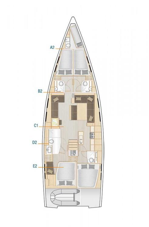 Boat rental Hanse Hanse 548 - 4 + 1 cab. in South Aegean on Samboat