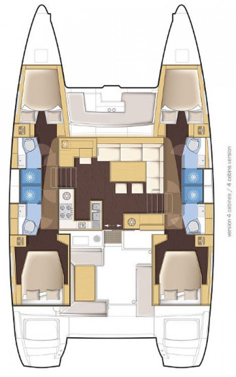 Rental Catamaran in Peloponnese - Lagoon Lagoon 450