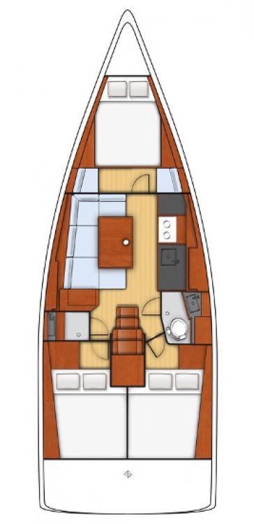 Rental yacht Peloponnese - Bénéteau Oceanis 38 on SamBoat