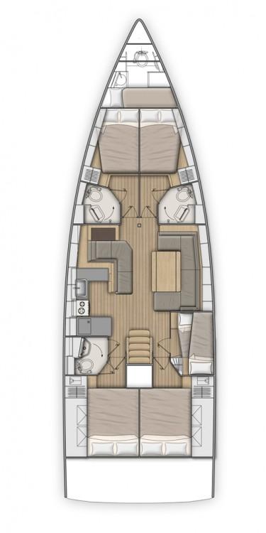 Boat rental Lefkada cheap Oceanis 51.1