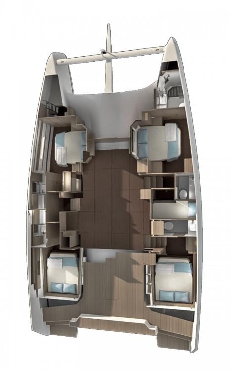 Rental yacht Peloponnese - Dufour Dufour 48 Catamaran - 4 + 1 cab. on SamBoat