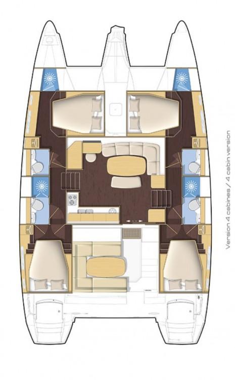 Rental yacht Safir Sitesi - Lagoon Lagoon 421 on SamBoat
