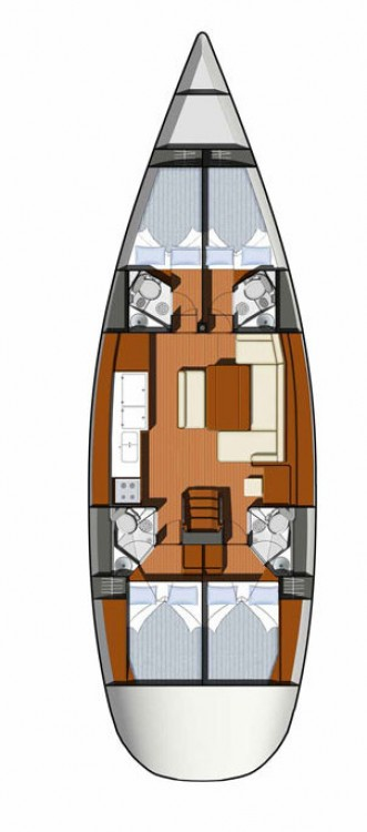 Rental yacht Marina Kaštela - Jeanneau Sun Odyssey 49i on SamBoat