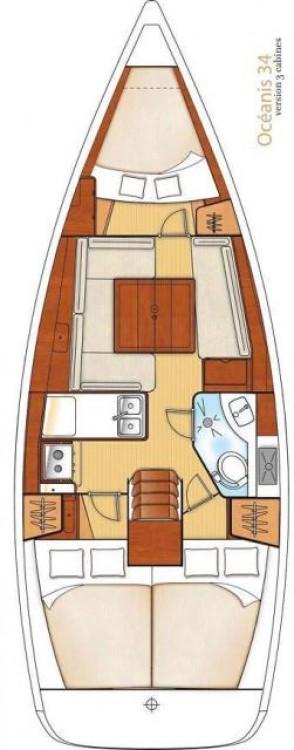 Boat rental Fethiye cheap Oceanis 34