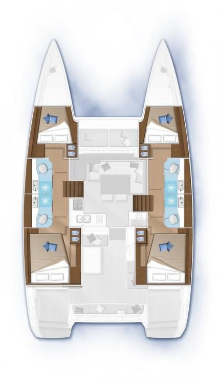 Boat rental  cheap Lagoon 40 - 4 + 2 cab