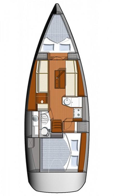 Boat rental Corfu cheap Sun Odyssey 33i