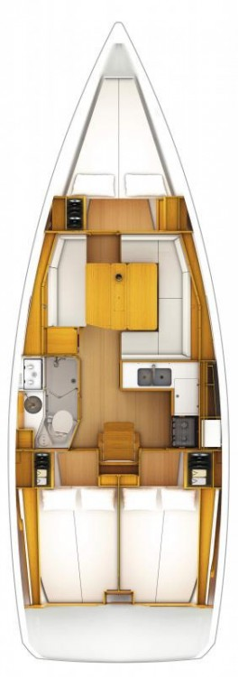 Jeanneau Sun Odyssey 389 between personal and professional Corfu