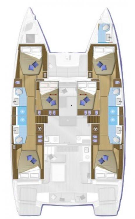 Rental yacht Croatia - Lagoon Lagoon 50 - 6 + 1 cab. on SamBoat