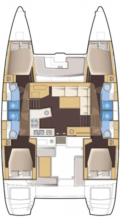 Rental Catamaran in  - Lagoon Lagoon 450 - 4 + 1 cab.