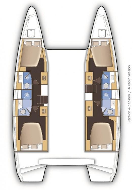 Boat rental  cheap Lagoon 42 - 4 + 2 cab.