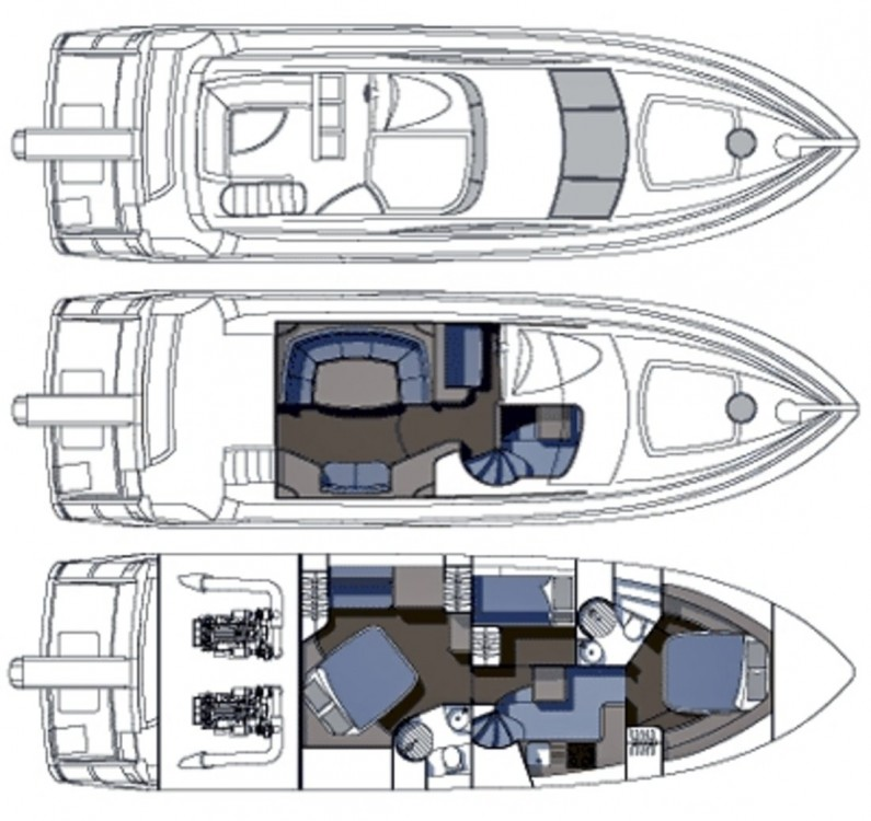 Hire Motorboat with or without skipper Sunseeker-International Podstrana