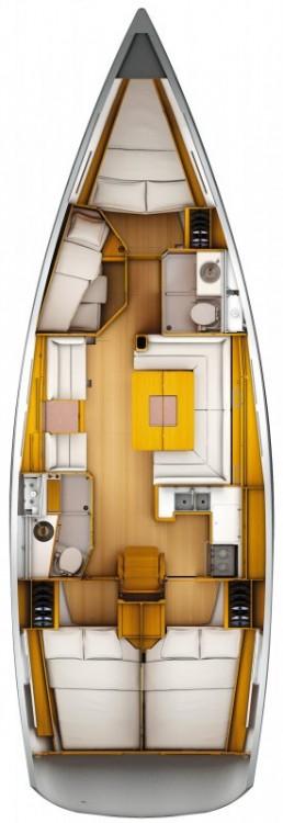 Boat rental Sardinia cheap Sun Odyssey 439