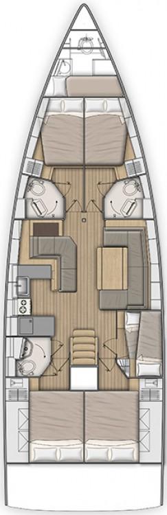 Boat rental Peloponnese cheap Oceanis 51.1