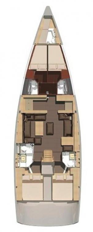 Rental yacht Primošten - Dufour Dufour Exclusive 56 - 4 + 1 cab. on SamBoat