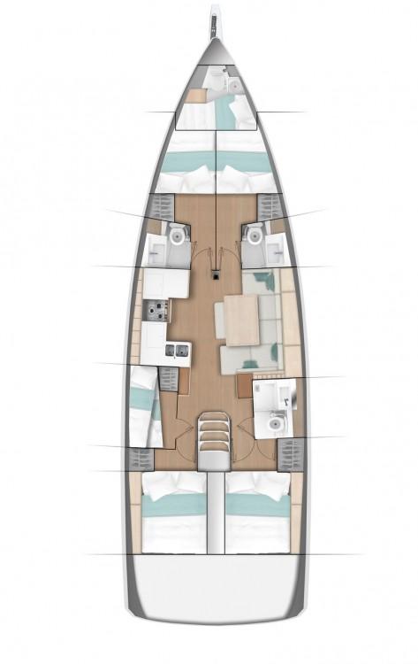Boat rental Jeanneau Sun Odyssey 490 - 5 + 1 cab. in  on Samboat