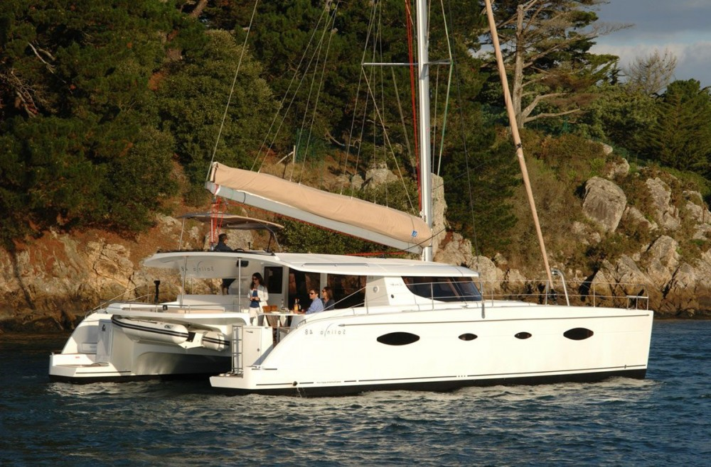 Fountaine Pajot Salina 48 between personal and professional Peloponnese
