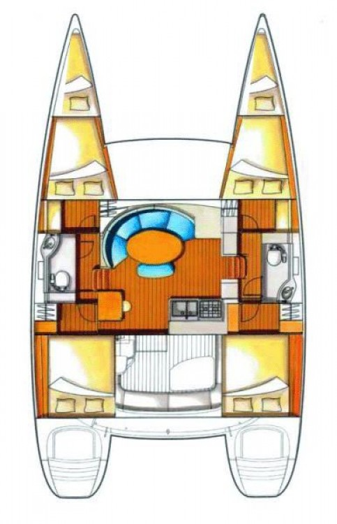Rental Catamaran in Peloponnese - Lagoon Lagoon 380 S2 - 4 + 2 cab.