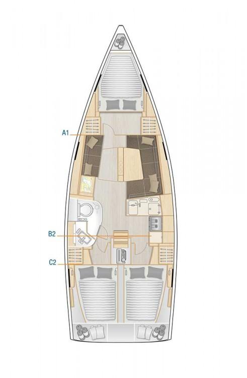 Boat rental Marina Kaštela cheap Hanse 388