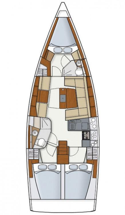 Boat rental Croatia cheap Hanse 415
