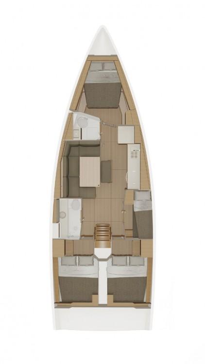 Boat rental  cheap Dufour 43