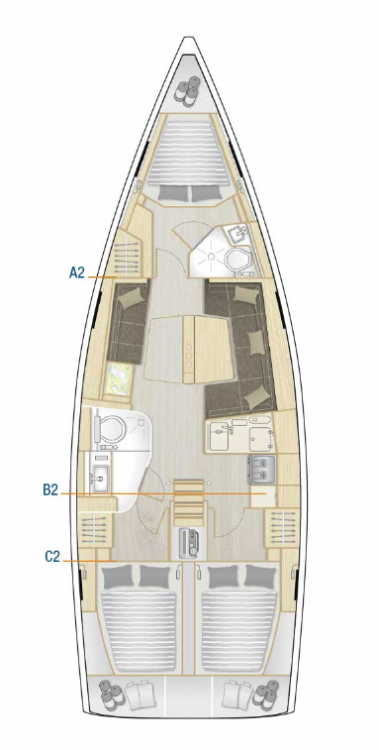 Boat rental Hanse Hanse 418 - 3 cab. in Muğla on Samboat