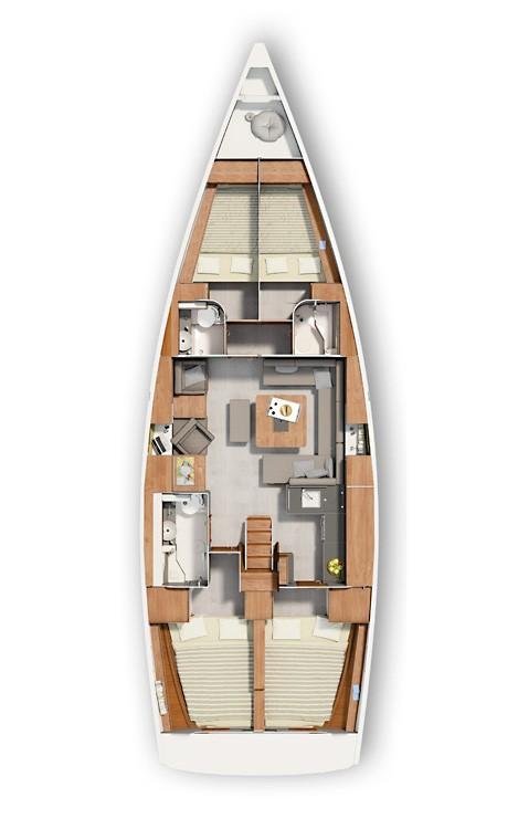 Rental Sailboat in Croatia - Hanse Hanse 455