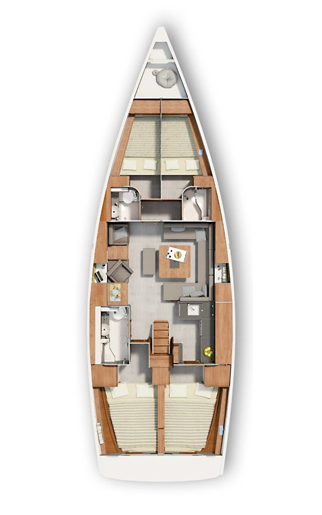 Rental Sailboat in Croatie - Hanse Hanse 455