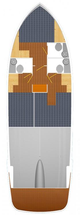 Boat rental Trogir cheap Futura 40 Grand Horizon