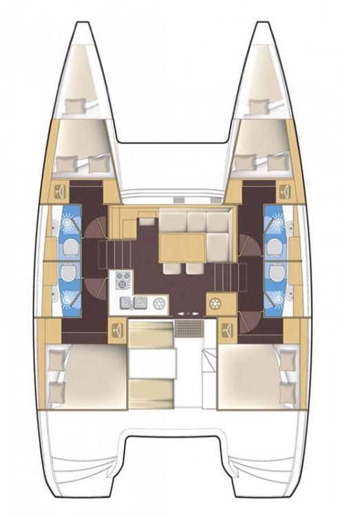 Rental Catamaran in Marina Šangulin - Lagoon Lagoon 39 - 4 + 2 cab.