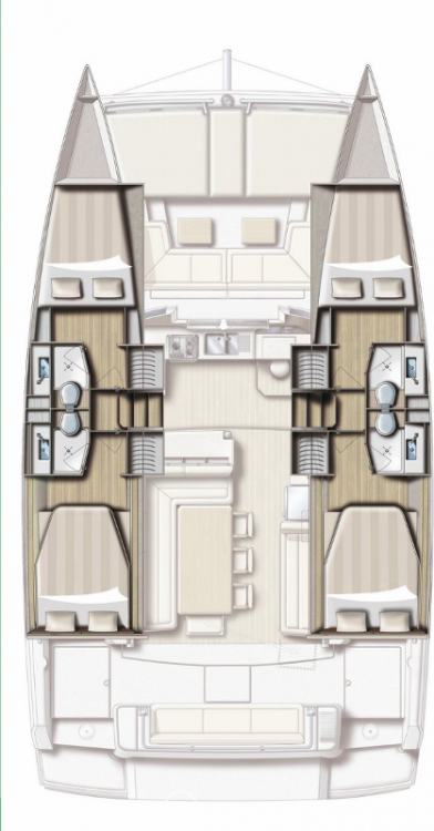 Hire Catamaran with or without skipper Catana Općina Sukošan