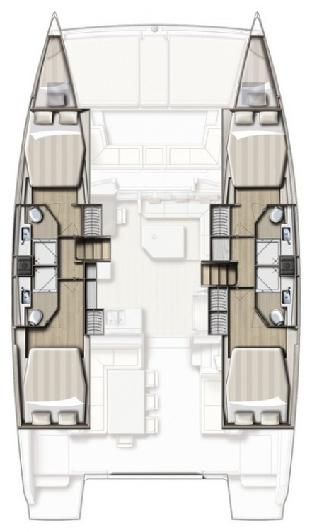 Rental Catamaran in Trogir - Catana Bali 4.3 - 4 + 2 cab.