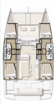 Rental Catamaran in Kaštela - Catana Bali 4.1 - 4 cab.