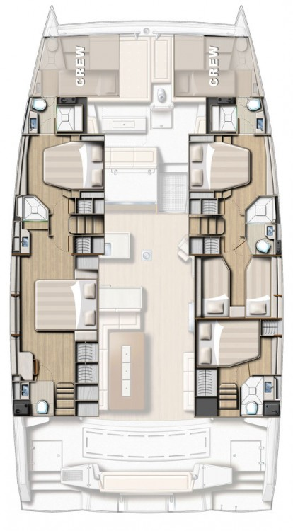 Catana Bali 5.4 Open Space - 5 cab. between personal and professional Kroatien