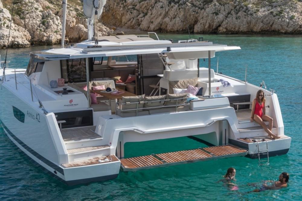 Boat rental  cheap Fountaine Pajot Astrea 42 - 4 + 2 cab.