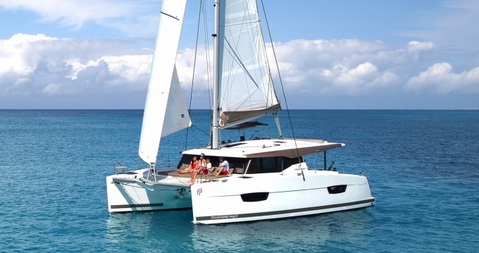 Fountaine Pajot Lucia 40 between personal and professional Marina Cay