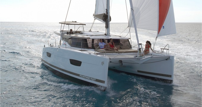 Fountaine Pajot Lucia 40 between personal and professional Athens