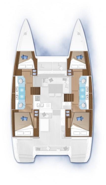 Rental yacht Balearic Islands - Lagoon Lagoon 40 - 4 + 2 cab  on SamBoat