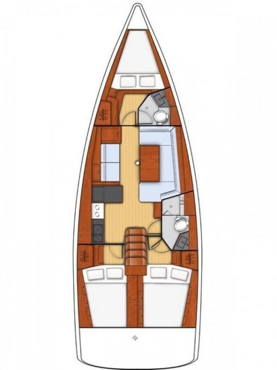 Boat rental Bénéteau Oceanis 41.1 in Campania on Samboat