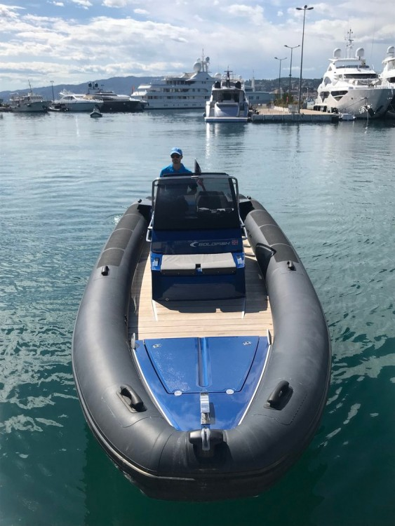 Hire RIB with or without skipper Goldfish Boat Port Pierre Canto