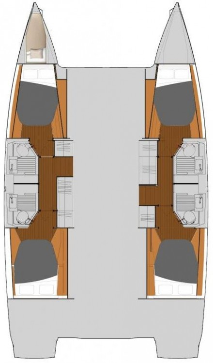 Boat rental Fountaine Pajot Fountaine Pajot Astrea 42 - 4 + 1 cab. in Marmaris Yacht Marina A.Ş on Samboat