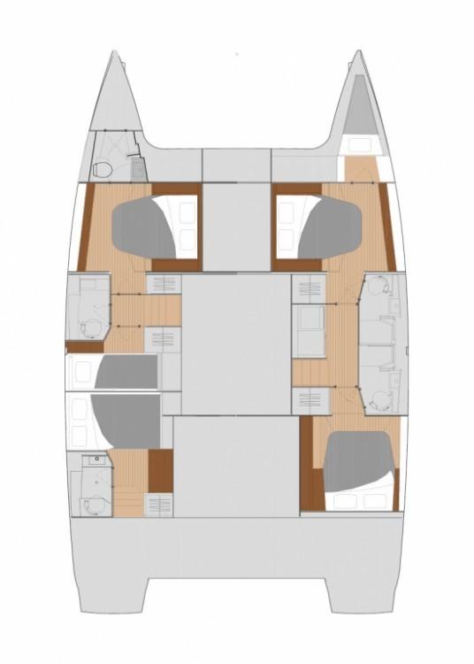 Rental Catamaran in Marmaris Yacht Marina A.Ş - Fountaine Pajot Fountaine Pajot Saona 47 (Quintet) - 5 + 1 cab.